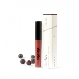 Feather: Gloss de buze natural cu extract de coacaze negre