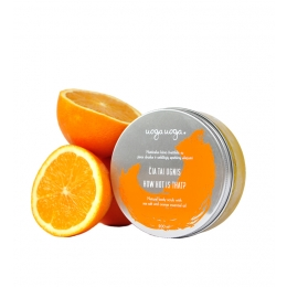 How hot is that: Scrub vegan de corp cu sare de mare si ulei esential de portocale
